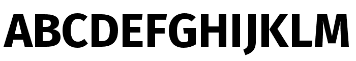Fira Sans Condensed ExtraLight Font UPPERCASE