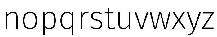 Fira Sans Condensed Four Font LOWERCASE