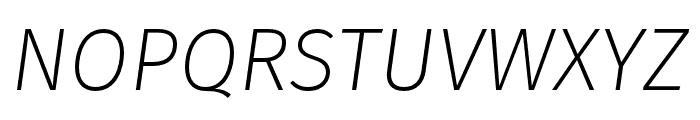 Fira Sans Four Italic Font UPPERCASE