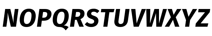 Fira Sans Heavy Italic Font UPPERCASE