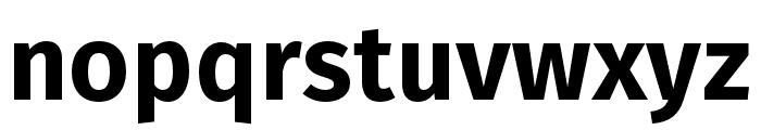 Fira Sans Heavy Font LOWERCASE