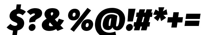 Fira Sans Ultra Italic Font OTHER CHARS