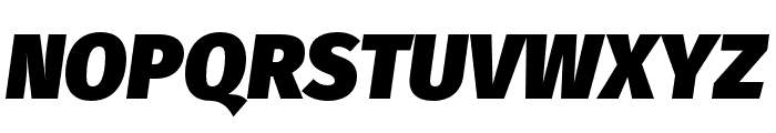 Fira Sans Ultra Italic Font UPPERCASE