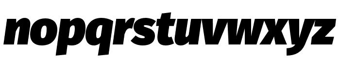 Fira Sans Ultra Italic Font LOWERCASE