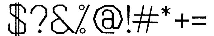 Folk Rough OT Light Font OTHER CHARS