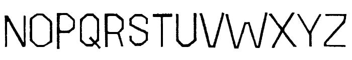 Folk Rough OT Light Font UPPERCASE