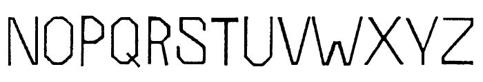 Folk Rough OT Light Font LOWERCASE
