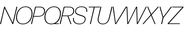 Forma DJR Banner Extra Light Italic Font UPPERCASE