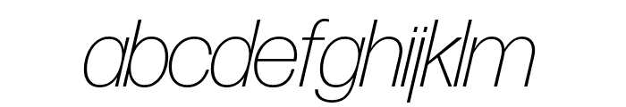 Forma DJR Banner Extra Light Italic Font LOWERCASE