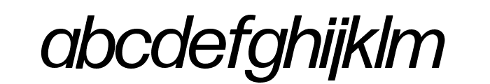 Forma DJR Banner Italic Font LOWERCASE