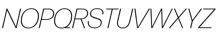 Forma DJR Deck Extra Light Italic Font UPPERCASE
