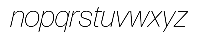 Forma DJR Deck Extra Light Italic Font LOWERCASE