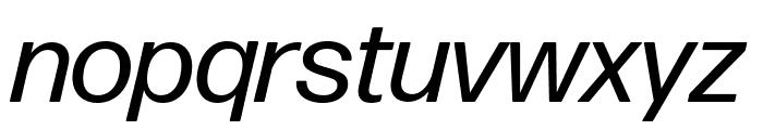 Forma DJR Deck Italic Font LOWERCASE