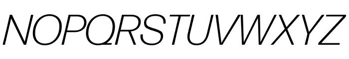 Forma DJR Deck Light Italic Font UPPERCASE