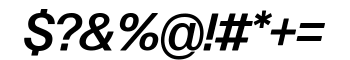 Forma DJR Deck Medium Italic Font OTHER CHARS