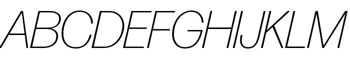 Forma DJR Display Extra Light Italic Font UPPERCASE