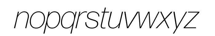 Forma DJR Display Extra Light Italic Font LOWERCASE