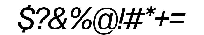 Forma DJR Display Italic Font OTHER CHARS