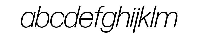 Forma DJR Display Light Italic Font LOWERCASE