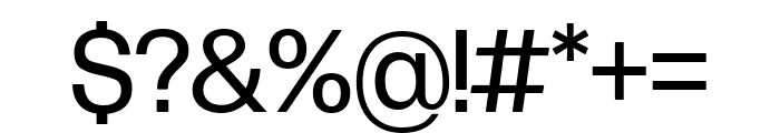 Forma DJR Display Regular Font OTHER CHARS