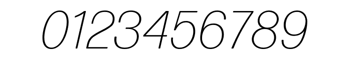 Forma DJR Micro Extra Light Italic Font OTHER CHARS