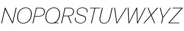 Forma DJR Micro Extra Light Italic Font UPPERCASE
