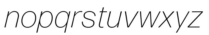 Forma DJR Micro Extra Light Italic Font LOWERCASE