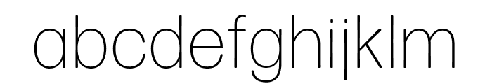 Forma DJR Micro Extra Light Font LOWERCASE