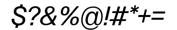 Forma DJR Micro Italic Font OTHER CHARS
