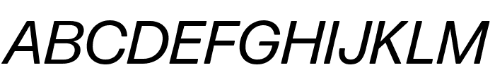 Forma DJR Micro Italic Font UPPERCASE