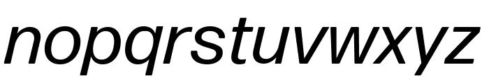 Forma DJR Micro Italic Font LOWERCASE