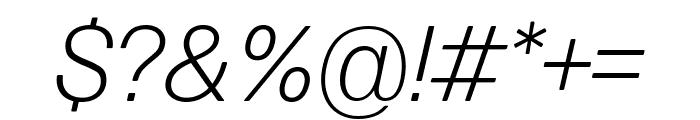 Forma DJR Micro Light Italic Font OTHER CHARS