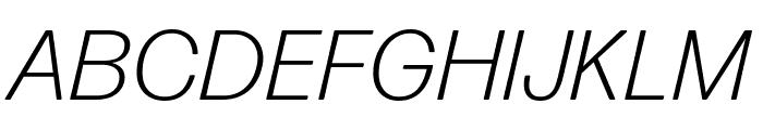 Forma DJR Micro Light Italic Font UPPERCASE