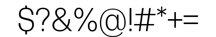 Forma DJR Micro Light Font OTHER CHARS