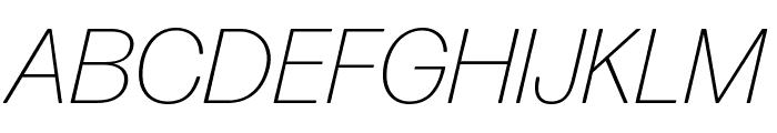 Forma DJR Text Extra Light Italic Font UPPERCASE