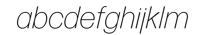 Forma DJR Text Extra Light Italic Font LOWERCASE