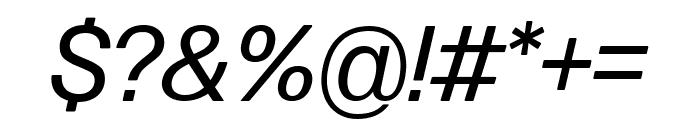 Forma DJR Text Italic Font OTHER CHARS