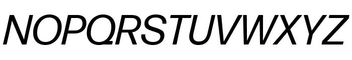 Forma DJR Text Italic Font UPPERCASE