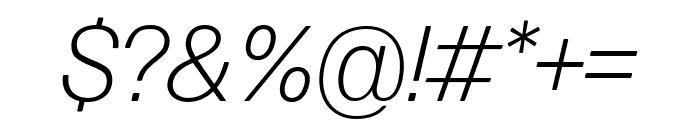 Forma DJR Text Light Italic Font OTHER CHARS