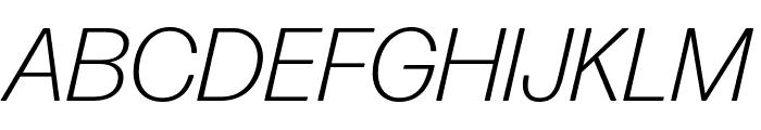 Forma DJR Text Light Italic Font UPPERCASE
