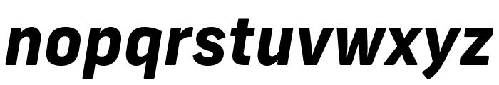 Frank New ExtraBold Italic Font LOWERCASE