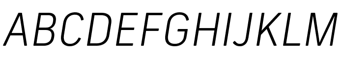 Frank New Light Italic Font UPPERCASE