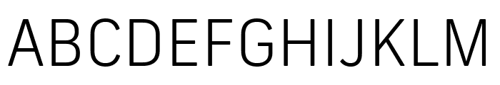 Frank New Light Font UPPERCASE