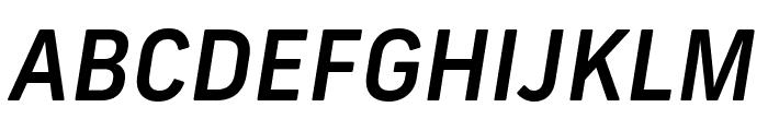 Frank New Medium Italic Font UPPERCASE