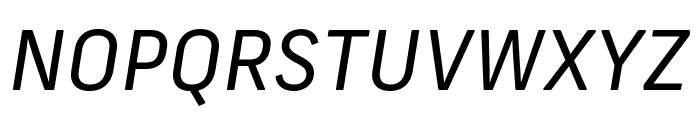 Frank New Regular Italic Font UPPERCASE