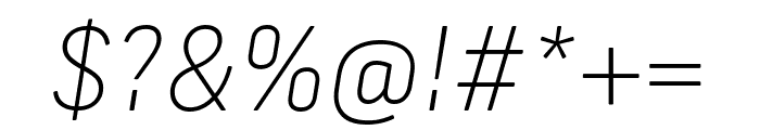Frank New Thin Italic Font OTHER CHARS