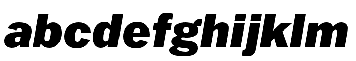 Franklin Gothic ATF Black Italic Font LOWERCASE