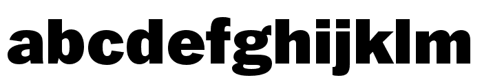 Franklin Gothic ATF Black Font LOWERCASE