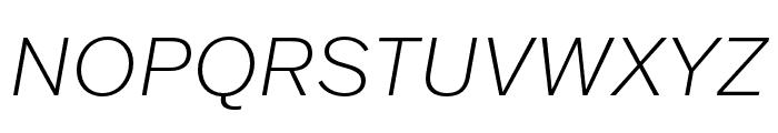 Franklin Gothic ATF Extra Light Italic Font UPPERCASE