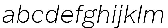 Franklin Gothic ATF Extra Light Italic Font LOWERCASE